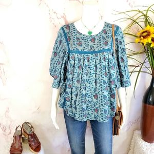 Anthropologie One Fine Day super cute peasant top